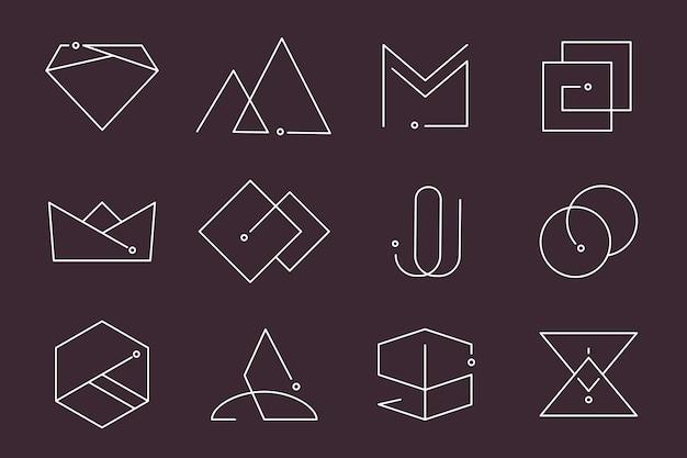 Minimale logo-ontwerpen ingesteld