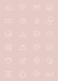 Minimale logo-set