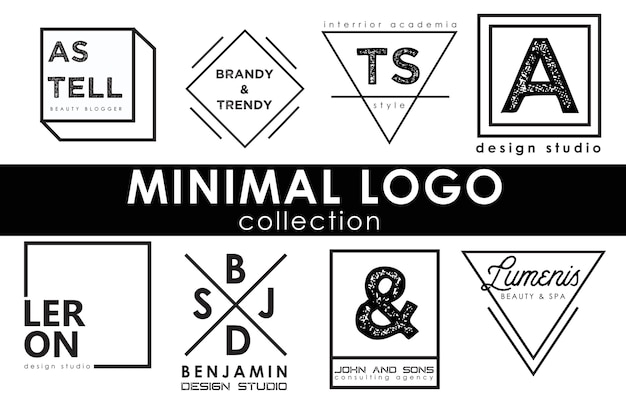 Minimale logo-sjabloonverzameling