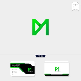 Minimale m monogram logo sjabloon