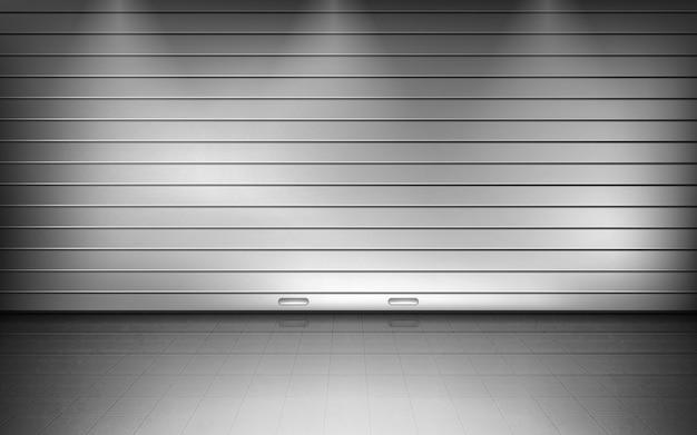 Minimale metalen garage voor auto's