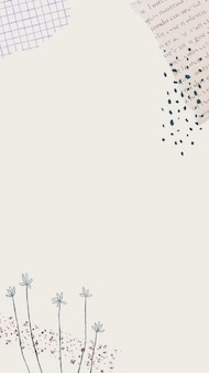 Minimale mobiele wallpaper achtergrond vector
