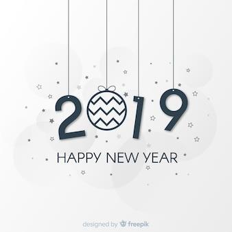 Minimale nieuwe jaar 2019 achtergrond