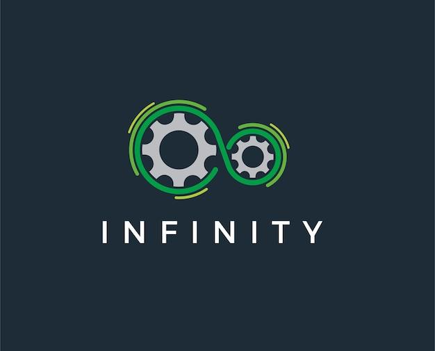 Minimale oneindigheid logo sjabloon