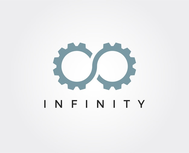 Minimale oneindigheid versnelling logo sjabloon