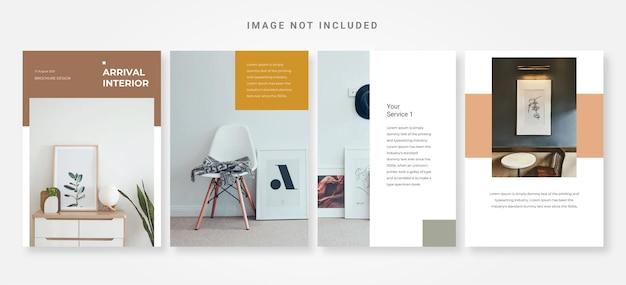 Minimale ontwerpsjabloon voor interieurbrochures