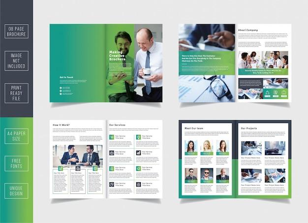 Minimale pagina's zakelijke brochure sjabloon