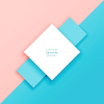 Minimale pastelkleurachtergrond met tekstruimte