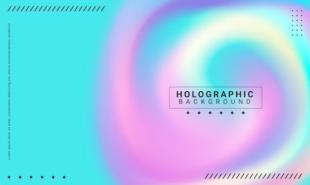 Minimale posterlay-out met levendige kleurovergangen