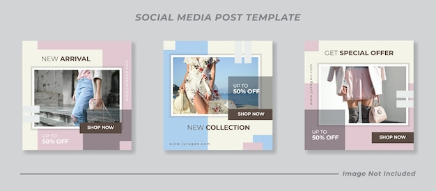 Minimale postsjabloon voor sociale media