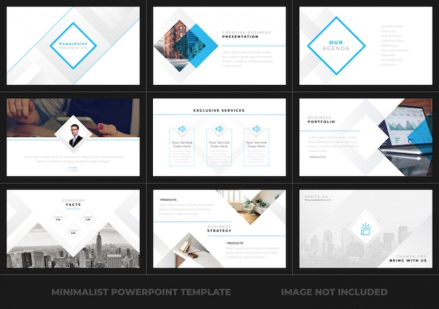 Minimale powerpoint-presentatiesjabloon