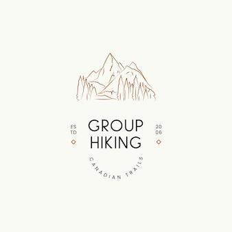 Minimale reis vector logo ontwerpsjabloon voor reisbureau reisbloggers fotografen