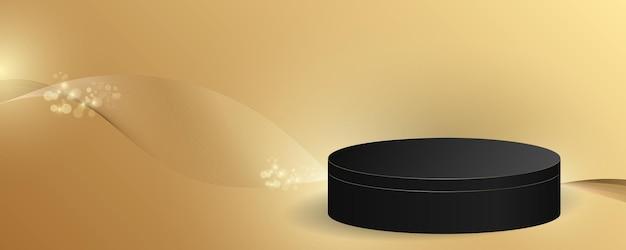 Minimale scène met de achtergrond van het cilinderpodium. 3d illustratie.