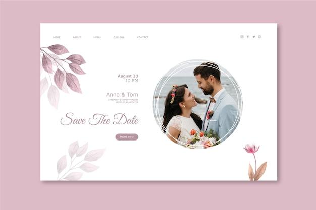 Minimale sjabloon voor bestemmingspagina's voor bruiloften