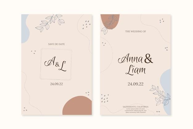 Minimale sjabloon voor huwelijksuitnodigingen