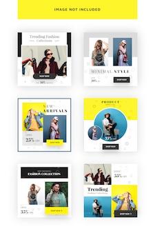 Minimale sociale media-banner voor marketing