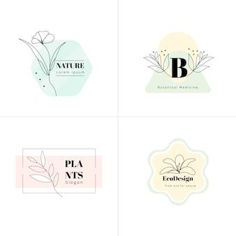 Minimale stijl logo-collectie