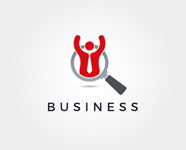 Minimale teamwerk logo sjabloon