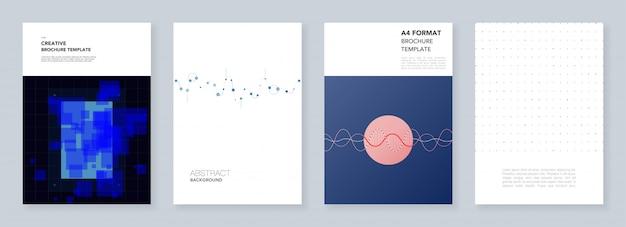 Minimale trendy brochuremalplaatjes