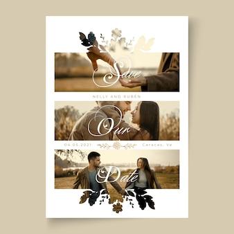 Minimale trouwkaart concept