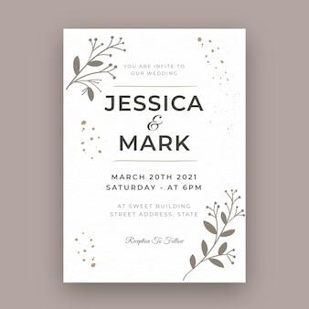 Minimale trouwkaart