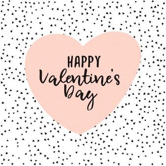 Minimale valentijnsdag wenskaart