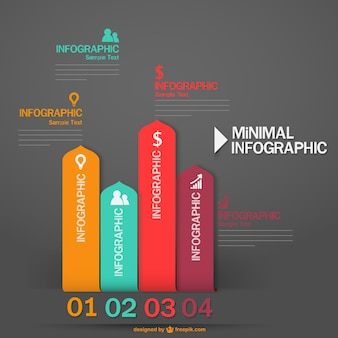 Minimale vector infographic labels