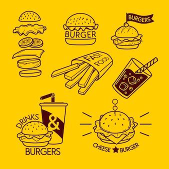 Minimale verzameling logo-elementen