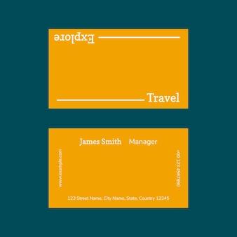 Minimale visitekaartje sjabloon foto bevestigbaar voor reisbureau travel