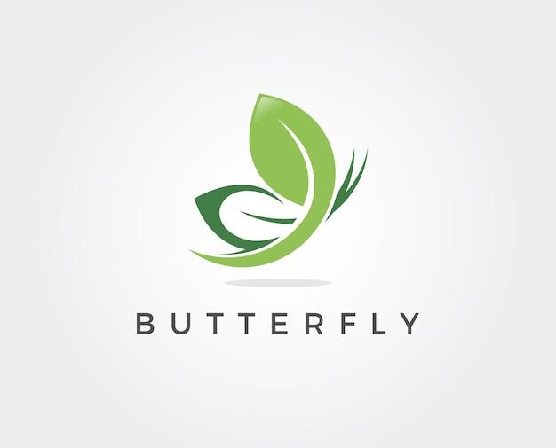 Minimale vlinder logo sjabloon illustratie