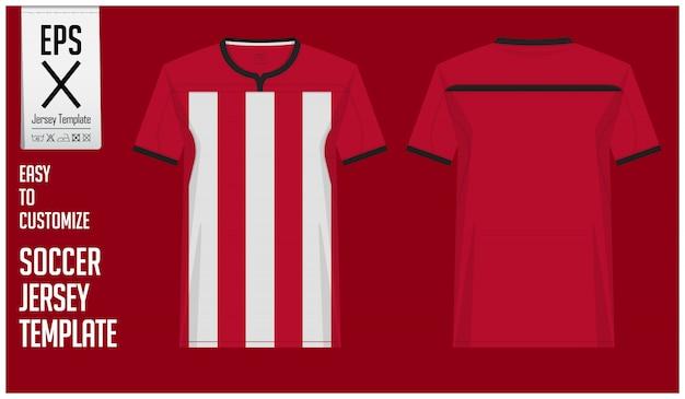 Minimale voetbal jersey of voetbal kit sjabloonontwerp
