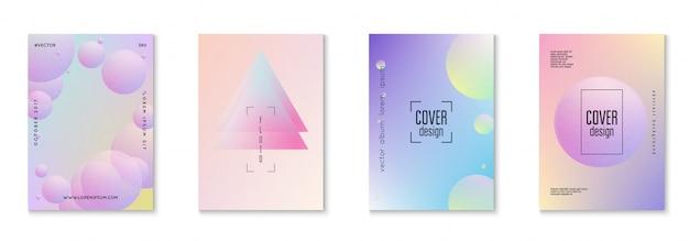 Minimale vormen cover set met holografische vloeistof