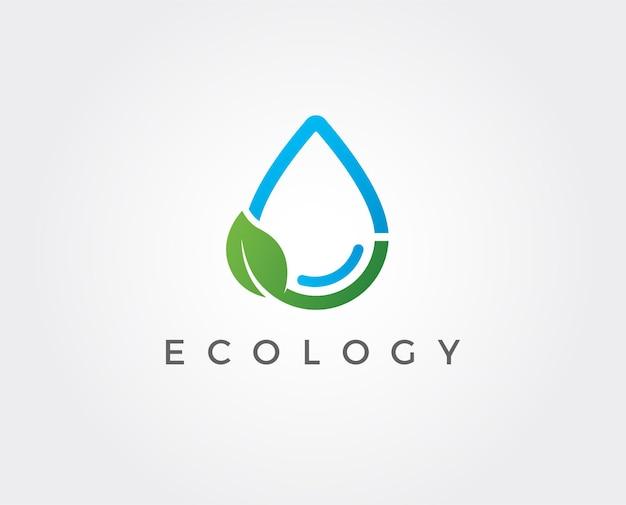 Minimale waterdruppel logo sjabloon