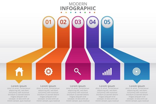 Minimale zakelijke infographics sjabloon. vector illustratie