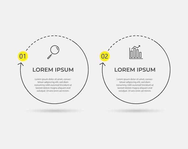 Minimale zakelijke infographics sjabloon