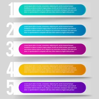 Minimale zakelijke infographics sjabloon.