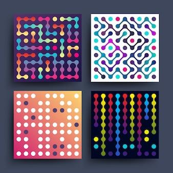 Minimalistisch 2d grafisch vectorontwerp voor dekking