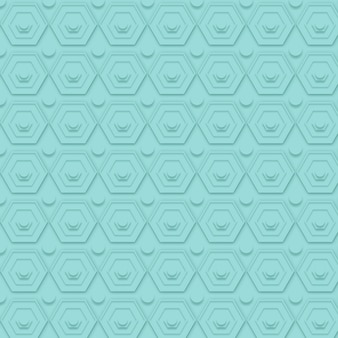 Minimalistisch blauw patroon met vormen