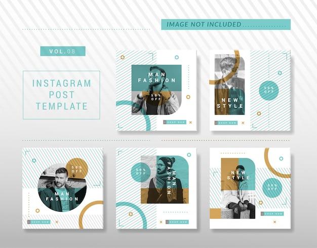 Minimalistisch instagram- of social media-postontwerp