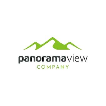 Minimalistisch landschap hills-logo ontwerp
