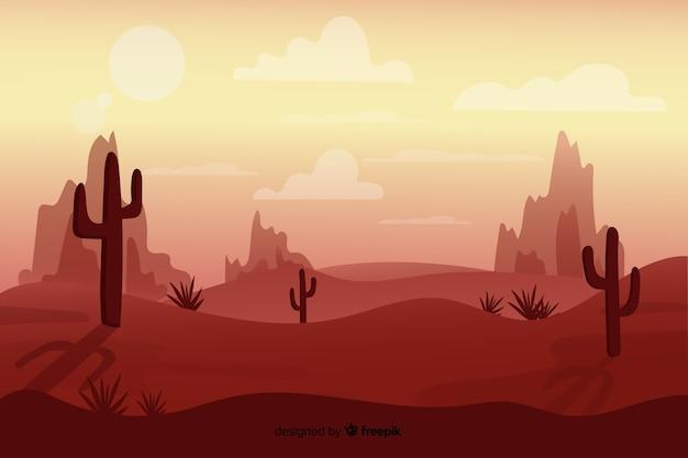 Minimalistisch landschap van woestijn