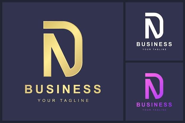 Minimalistisch letter d logo sjabloonontwerp