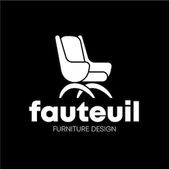Minimalistisch logo-ontwerp van meubels