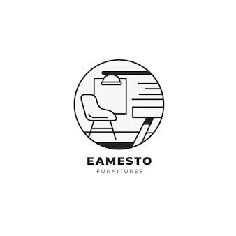 Minimalistisch logo van het meubelmerk