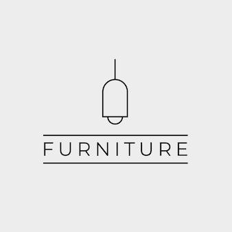 Minimalistisch meubels logo concept