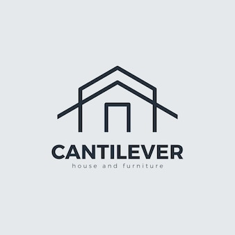 Minimalistisch meubilair logo concept