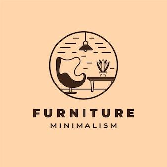 Minimalistisch meubilair logo sjabloon