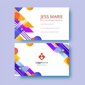 Minimalistisch modern communautair manager reclameadreskaartje