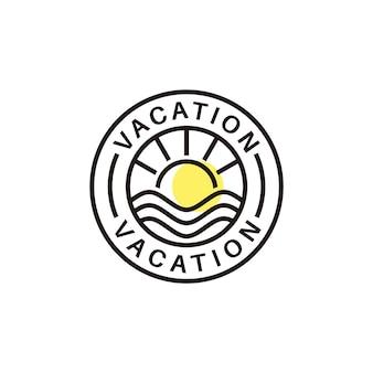 Minimalistisch monogram vakantie zon water golf zomer logo