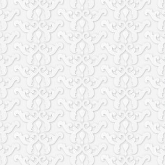 Minimalistisch patroon met vormen in papierstijl